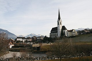 Frastanz Place in Vorarlberg, Austria