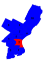 Philadelphia city council districts 1951.png