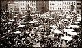 Photo - Nürnberg - Hauptmarkt - Neptunbrunnen - Korbmarkt - um 1903.jpg
