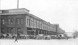 Center Market, Washington, D.C. - Center Market seen from B Street NW (Constitution Avenue) in 1914