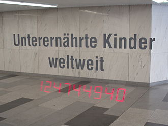 Karlsplatz - A factoid of the art project Pi in the subterranean passages
