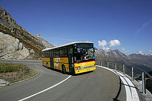 Transport in Switzerland - Postauto on the Susten road