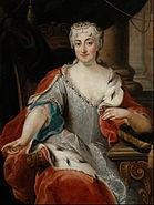 Pier Leone Ghezzi - Portrait of Maria Clementina Sobieska (?) - Google Art Project