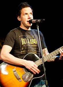 Bouvier performing with Simple Plan in Beijing in 2012