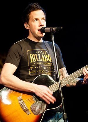 Pierre Bouvier - Bouvier performing with Simple Plan in Beijing in 2012