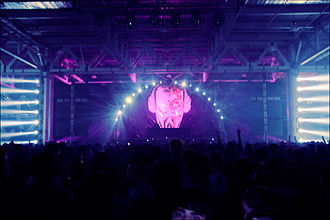 Drum and bass - Aphrodite in 2009 at Pirate Station, the world's largest drum and bass festival at that time, in Moscow.
