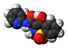 Space-filling model of the piroxicam molecule