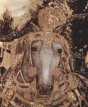 Pisanello - St. George and the Princess (detail with horse).