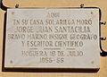 Placa a la casa on Va viure Jordi Joan a Alacant.JPG