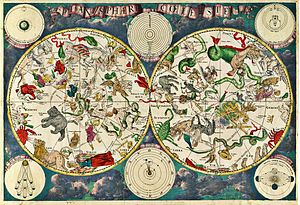 Map - A celestial map from the 17th century, by the  cartographer Frederik de Wit
