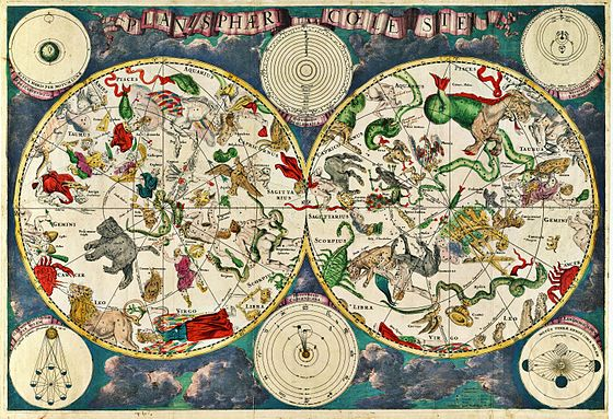 A celestial map from the 17th century, by the Dutch cartographer Frederik de Wit Planisphaeri coeleste.jpg