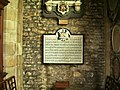 Plaque, Parish Church of St Leonard, Downham - geograph.org.uk - 538029.jpg