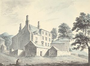 Elihu Yale - Plas yn Iâl, seat of the Yales, c.1795