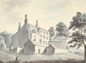 Elihu Yale - Plas yn Iâl, seat of the Yales, c.1795