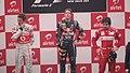 Podium winners of 2011 Indian Grand Prix.jpg