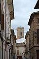 Pollenca, Carrer de Metge Sureda, torre iglesia.jpg