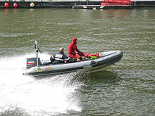 Small RHIB Being Used As A Dive Boat