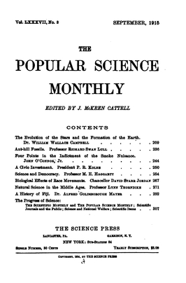 Voorkand Popular Science Monthly (september 1915)
