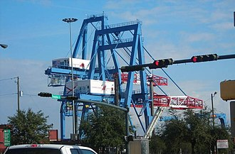 Port of Mobile - Cranes at the Port of Mobile.