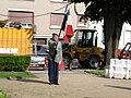 Porte drapeau ancien du 117 e R.I au Mans le 20.05.07..JPG