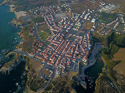 Aerial view of Porto Covo
