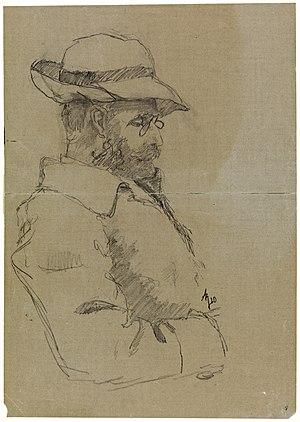 Hans Jæger - Portrait of Hans Jæger by Andreas Bloch