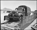 Poston, Arizona. Most of the building is being done by old Civilian Conservation Corps trucks at th . . . - NARA - 536116.tif
