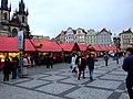 Praha, Staré Město, Staroměstské náměstí, Vánoční trhy (odpoledne) II.jpg