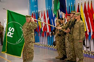 Resolute Support Mission - Change of Mission Ceremony from ISAF to Resolute Support, Dec. 28, 2014, in Kabul