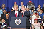 President Donald Trump and Dan Bishop - Fayetteville, NC Rally.jpg
