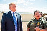 President Trump meets with the staffs of U.S. Border Patrol
