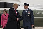 President Trump shakes hands with Col. Samuel Chesnut.jpg