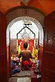 Priest Worshipping Batai Chandi Idol - Batai Chandi Mandir - Sibpur - Howrah 2012-10-02 0391.JPG