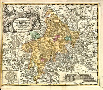 Bishopric of Würzburg - The Prince-Bishopric of Würzburg in the 18th century