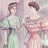 Princess line dress vs non-Princess line dress, September 1905.png