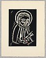 "Print, Svaty Marek Evangelista, Saint Mark the Evangelist, Plate VII, ""Ethiopie, cili Christos, Madonna a Svati, jak jsem ie videl v illuminacich starych ethiopskych kodexu"" Portfolio, 1920 (CH 18684923-2).jpg"