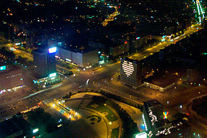 Project Blinkenlights - Aerial view of the Berlin installation