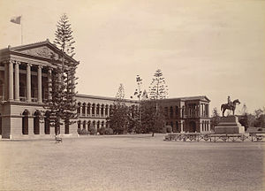 Mark Cubbon - Image: Public Offices (with an equestrian statue of Sir Mark Cubbon), Bangalore (1890). Curzon Collection's 'Souvenir of Mysore Album'