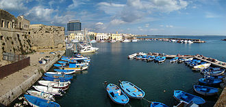 Gallipoli, Apulia - The southern harbour.