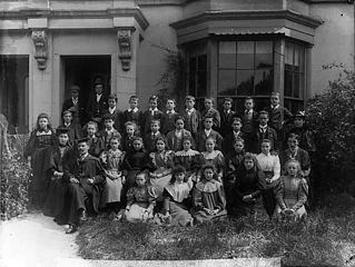 Pupils and teachers of Abergele County School (1897)