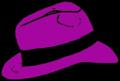 Purple Fedora hat.png