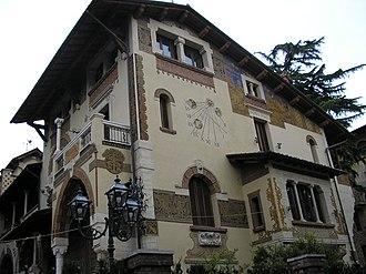 "Gino Coppedè - A house in the so-called ""Quartiere Coppedè"" in Rome."