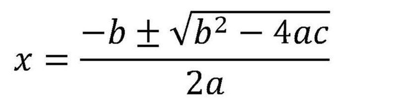 Library of algebra formulas picture download png files ...   Quadratic Formula Art