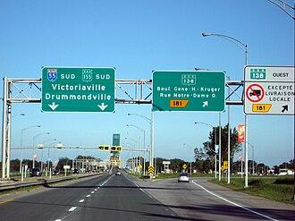 Quebec Autoroute 55 - Image: Quebec Autoroute 55 Exit 181