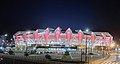 Queensland Country Bank Stadium at night from Pedestrian Bridge.jpg