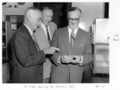 Queensland State Archives 6418 Dr Noble opening the air pollution testing laboratory at University of Queensland George Street Brisbane April 1959.png