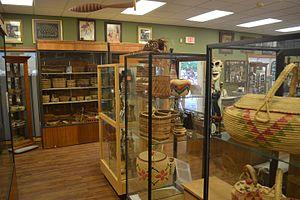 Quinault Cultural Center and Museum - Image: Quinault Museum interior