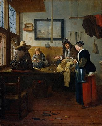 Quirijn van Brekelenkam - Quirijn van Brekelenkam, The Tailor's Workshop, 1661.
