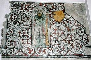 St Nicolas' Church, Rønne - Image: Rønne Kirke kalkmaleri