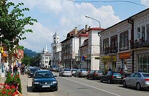 Vatra Dornei - Mihai Eminescu Street, downtown Vatra Dornei